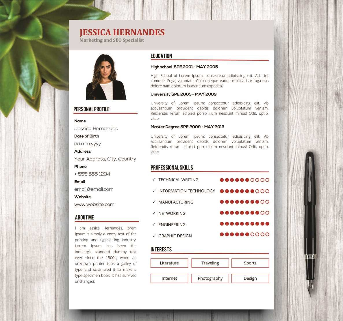 clean resume template cover letter resume templates creative market - Cover Letter Of A Resume