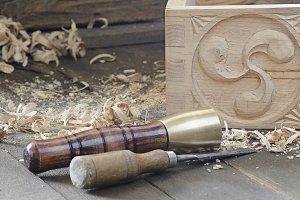 Wooden tools.
