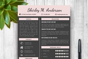 Dark Resume Template + Cover Letter