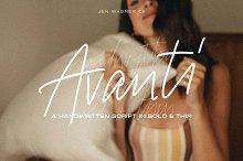 Avanti Casual Script in Bold & Thin by  in Fonts