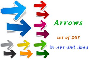 Colour arrows set of 267 pcs
