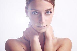 woman's closeup summer portrait