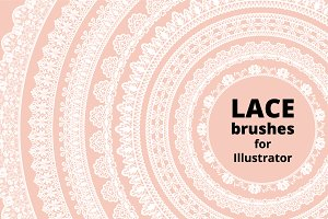 Lace brushes for AI and lace borders