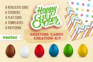 Easter greeting cards creation kit