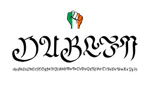 """Dublin, Ireland"""", Vector lettering"""