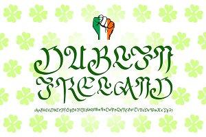 """lettering  Dublin, Ireland"""", Vector"""