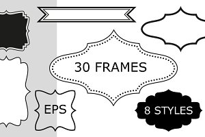 30 frames, 8 styles - vector EPS