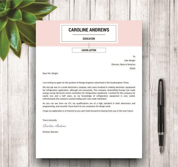 Resume Template + Cover Letter ~ Resume Templates ~ Creative Market