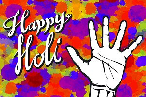 abstract colorful Happy Holi
