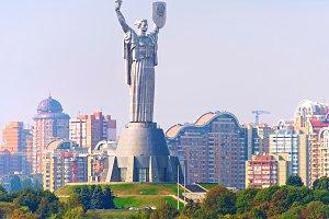 Motherland statue. Kyiv, Ukaine