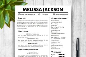 Creative, Simple Resume Template
