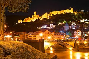 Sightseeings of Tbilisi at nigh