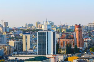 Panorama of Kiev city center