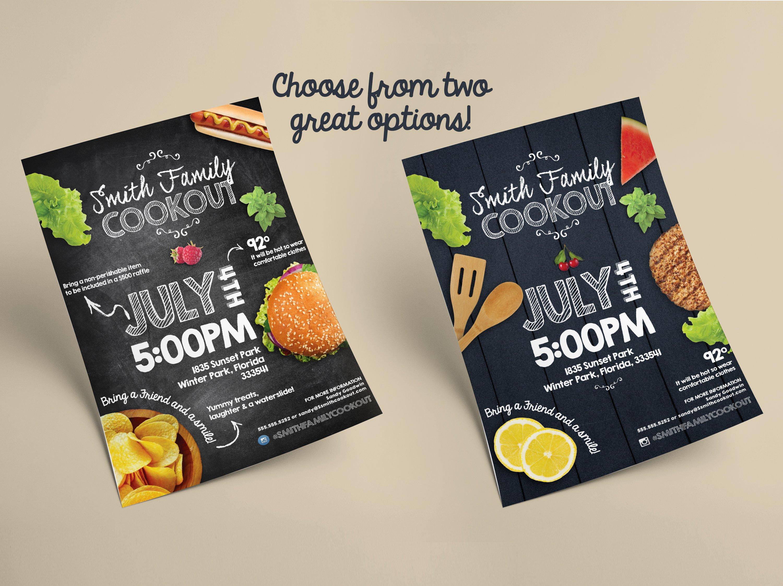 summer cookout flyer bonus flyer templates creative market