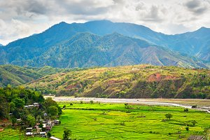 Philippines mountains rice fields