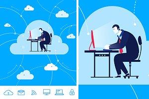 Cloud storage (bonus 6 icons)
