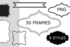 30 frames, 8 styles - PNG