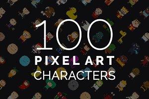100 Pixel Art Characters - 2