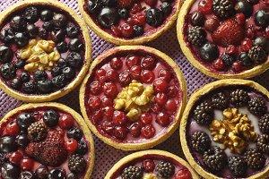 Autumn fruit cakes
