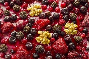 Autumn fruits cake
