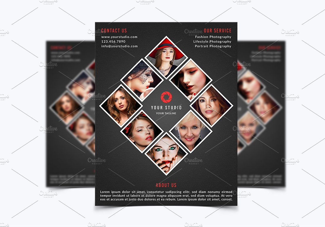 Photography Flyer Template Flyer Templates Creative Market - Photography ad template