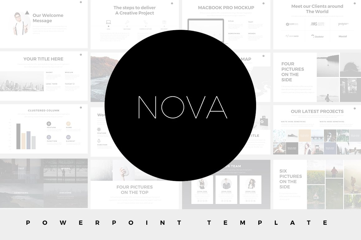 Nova minimal powerpoint template presentation templates creative nova minimal powerpoint template presentation templates creative market toneelgroepblik Image collections