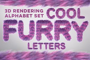 3D Furry Letters Pack