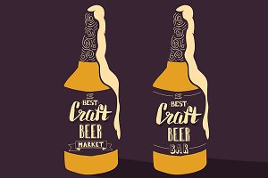Vintage craft beer brewery design