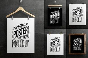 Hanging Poster Frame Mockup