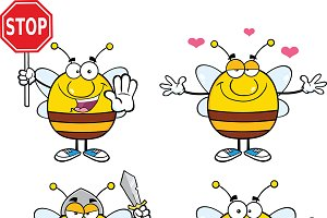 Bee Characters Collection - 6