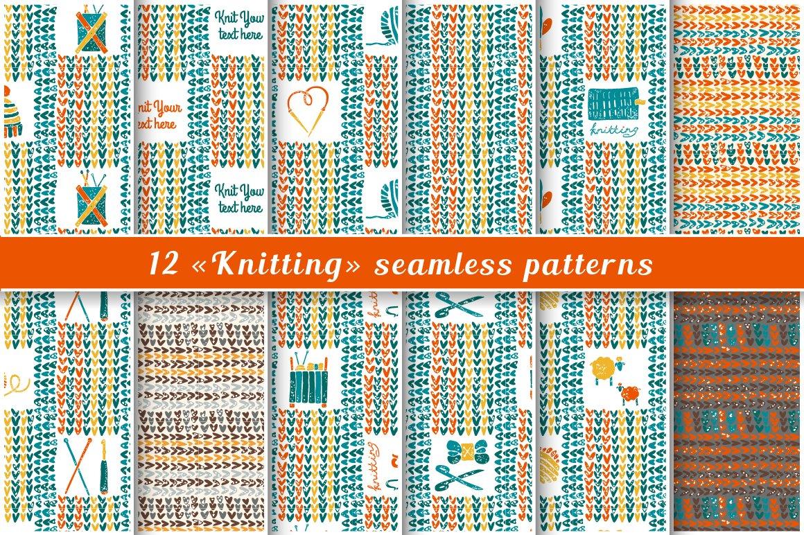 Knitting Styles Patterns : Knitting patterns in lino cut style creative