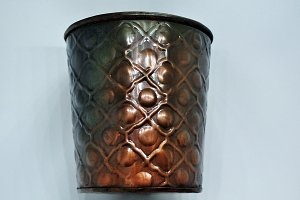 copper cup isolated