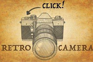 Retro camera, film camera