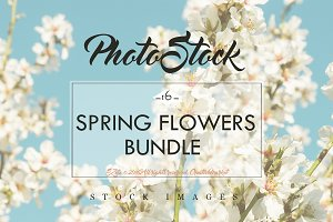 Stock Image Bundle, spring flowers