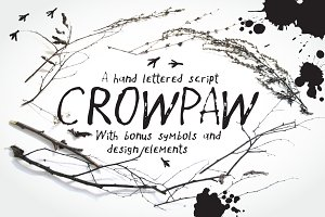 Crowpaw font and bonus