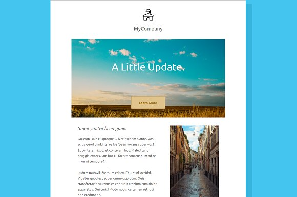 simple email newsletter template email templates creative market