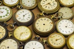 Old broken clocks