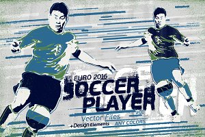 Soccer Player Drawing