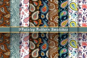 Paisley set & patterns