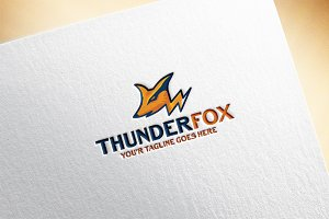 Thunder Fox Logo Template