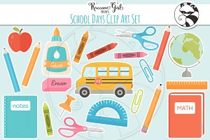School Days Clipart Set