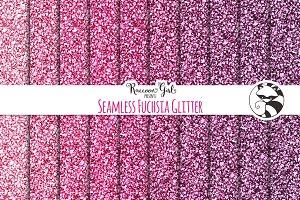 Seamless Fuchsia Glitter