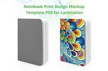 Notebook print Design mockup