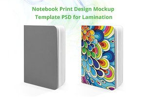 Notebook print Design mockup