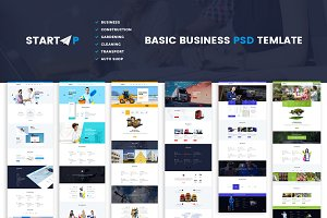 Startup | Basic Business PSD Website