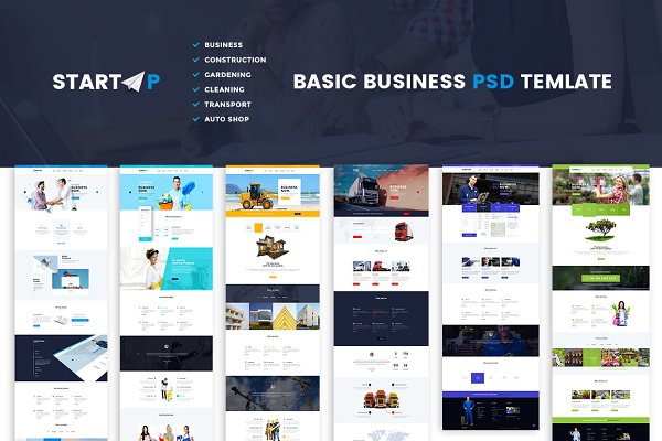 Startup | Basic Business PSD Websit…