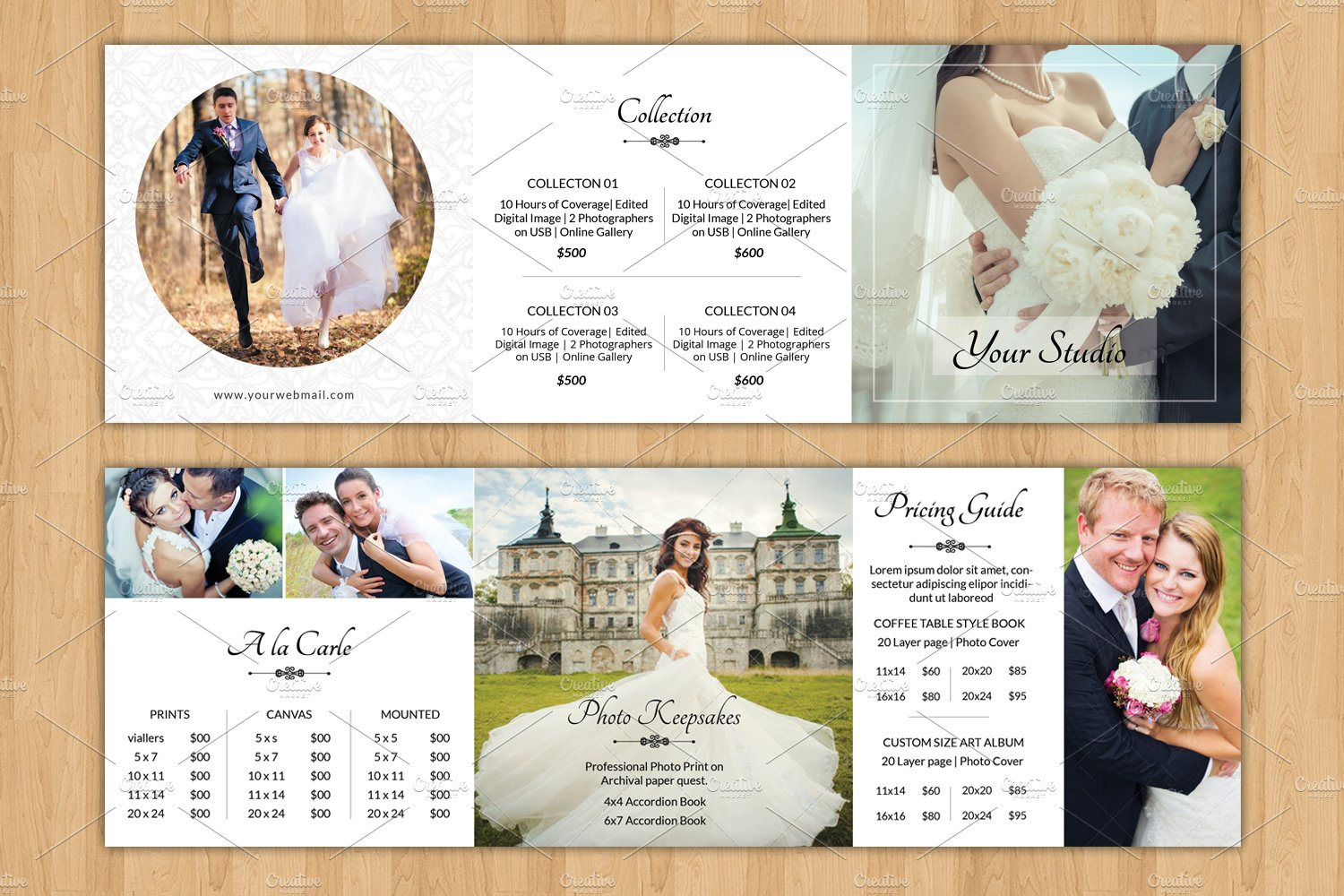 Square Trifold Pricing Brochure-V446 ~ Brochure Templates ~ Creative ...