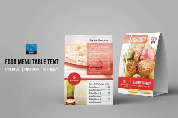Table Tent Template-V02