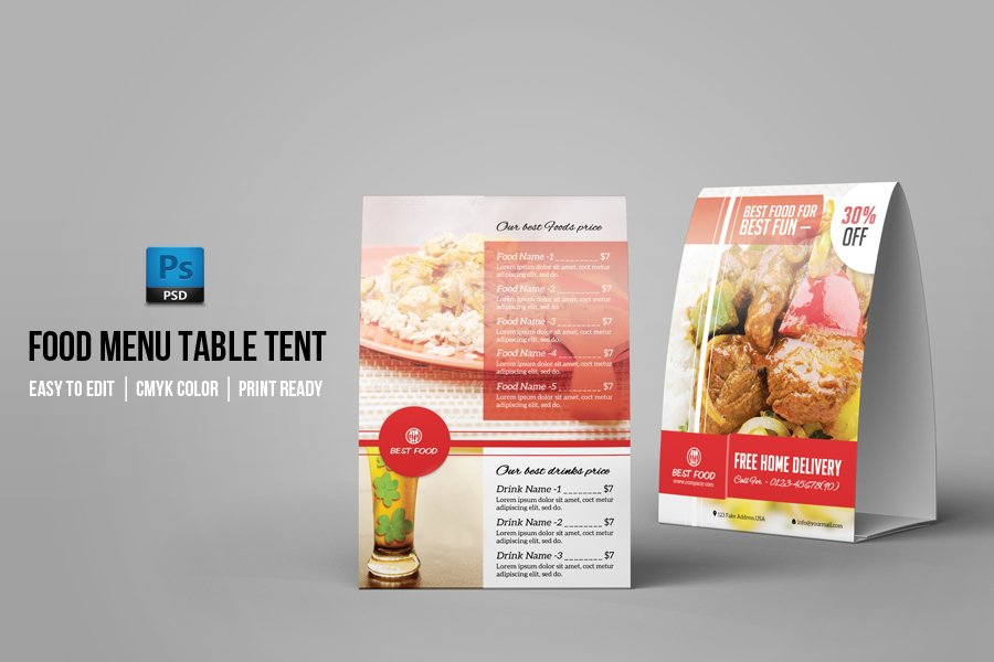table tent template v02 stationery templates on creative market
