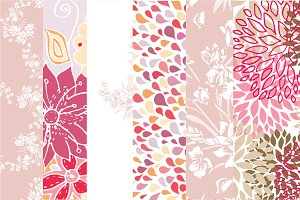 6  vector floral patterns